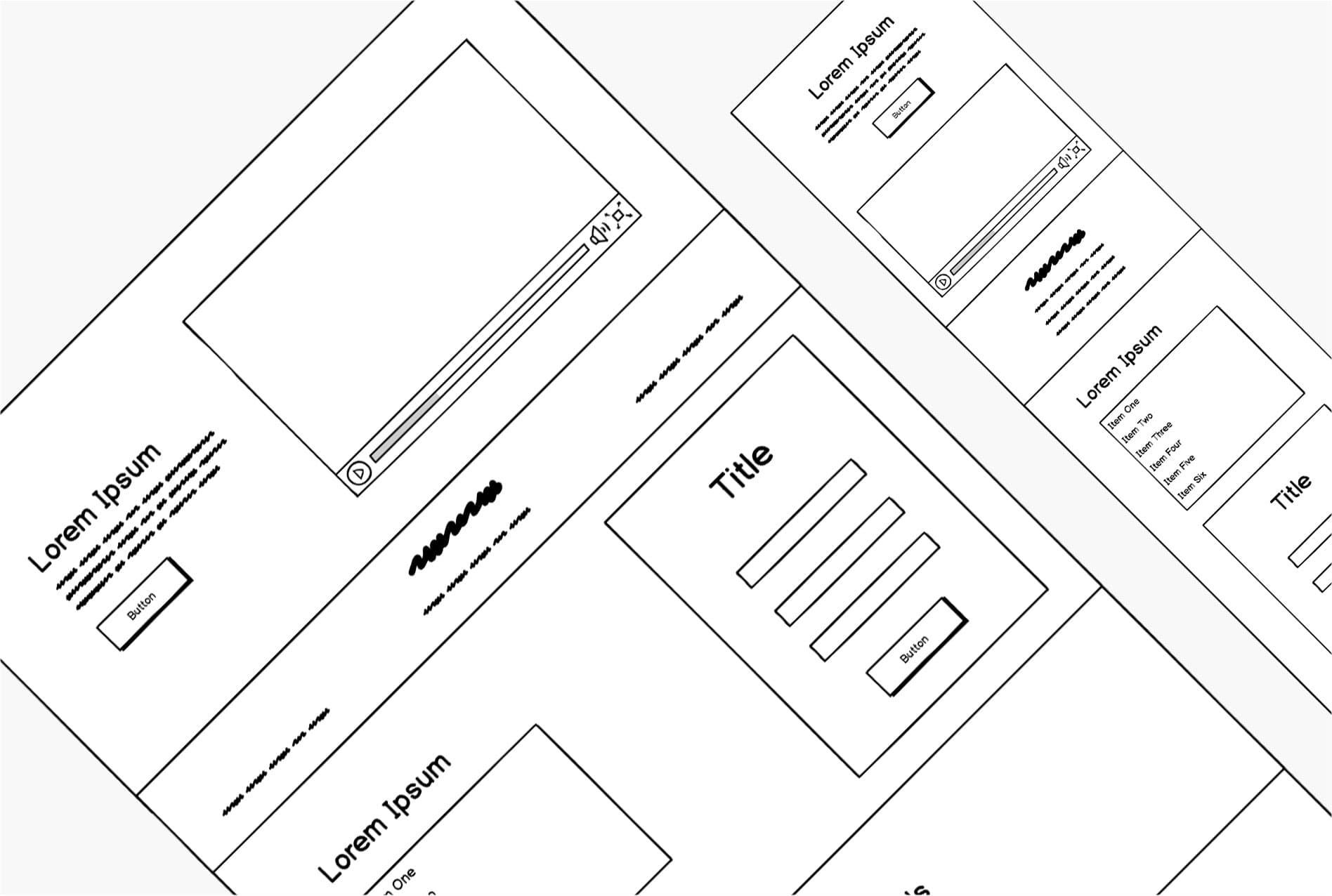 Photograph of wireframes